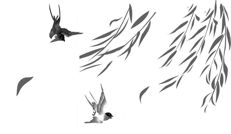 柳树简笔画铅笔手绘